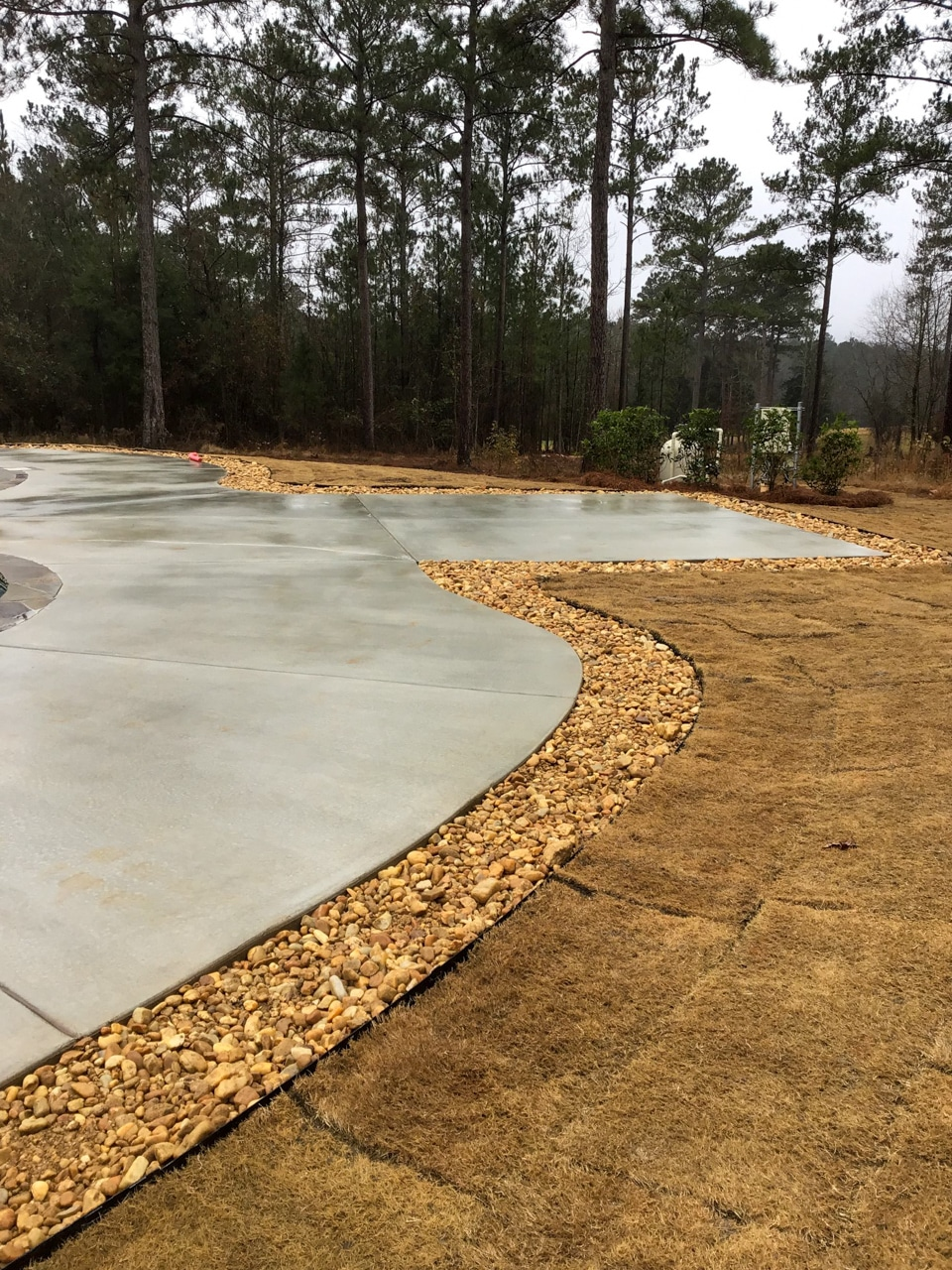 Sod & Rock Installation for Pool Area and Backyard
